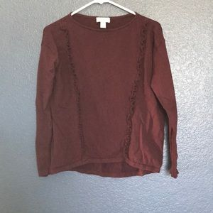 The Loft Outlet Ruffle Sweater